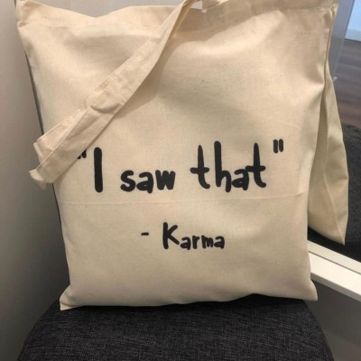 "Tote Bag ""I Saw That"""