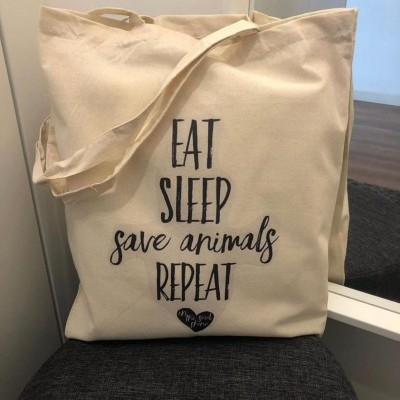 "Tote Bag "" Save Animals"""