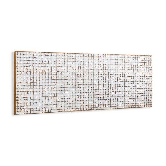 Cabeceira Cama Madeira Branco Decapé SEM PÉS 174 larg x 60 alt