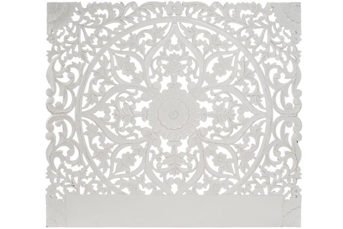 Cabeceira Cama Mandala Decapé Branco 160 X 140