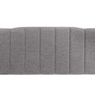 Cabeceira Estofada Cinza Ondas 160 larg x 60 alt