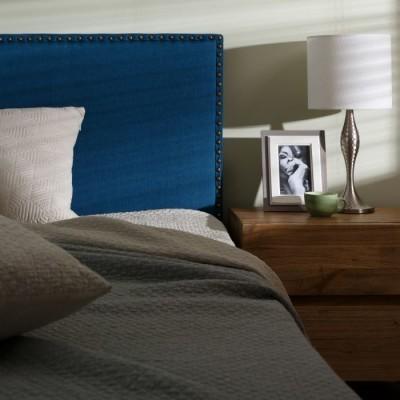 Cabeceira Estofada Lisa Prego Azul / Verde /Cinza / Beje 160 larg x 60 alt