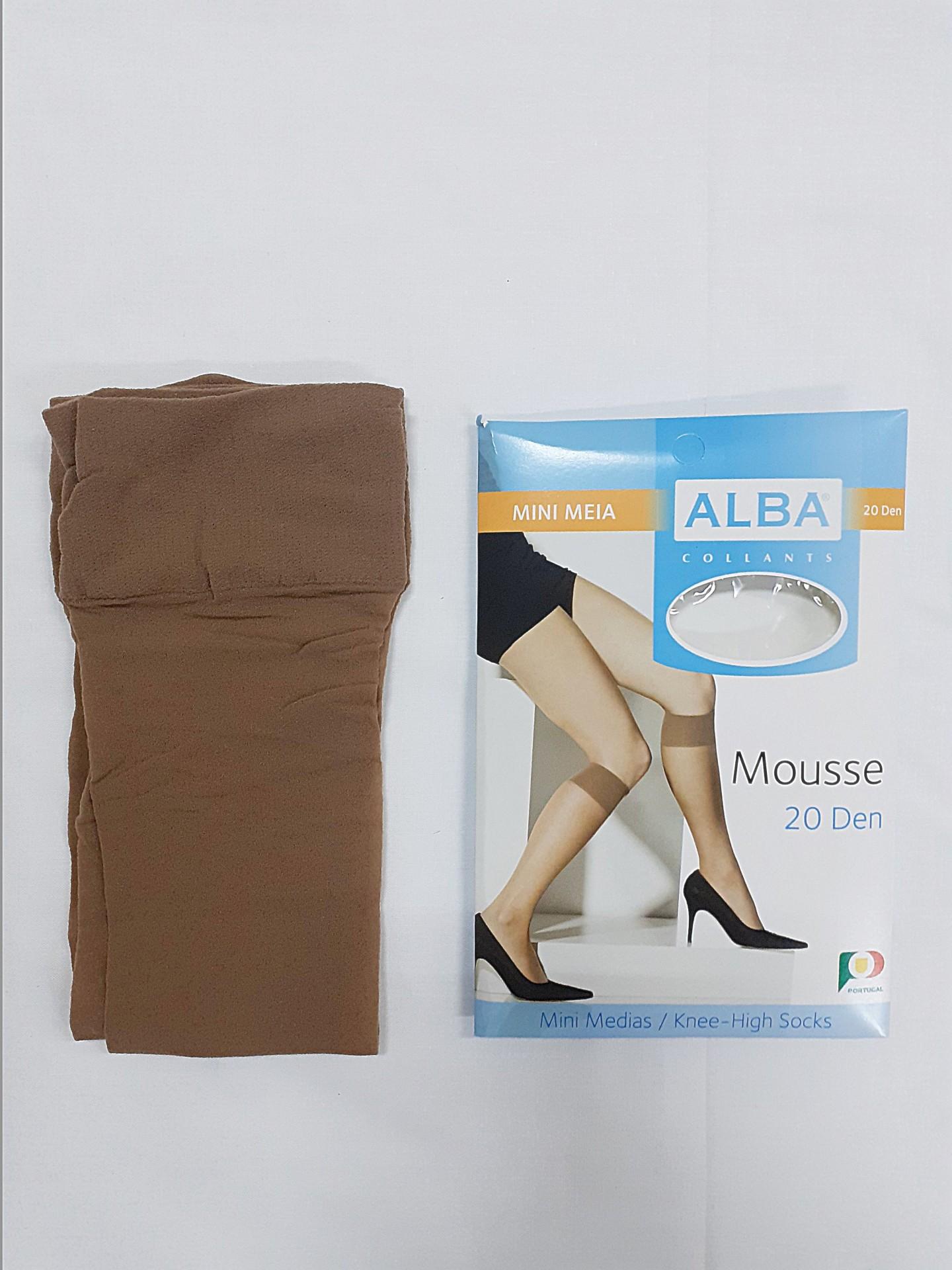 Mini Meia Mousse Alba