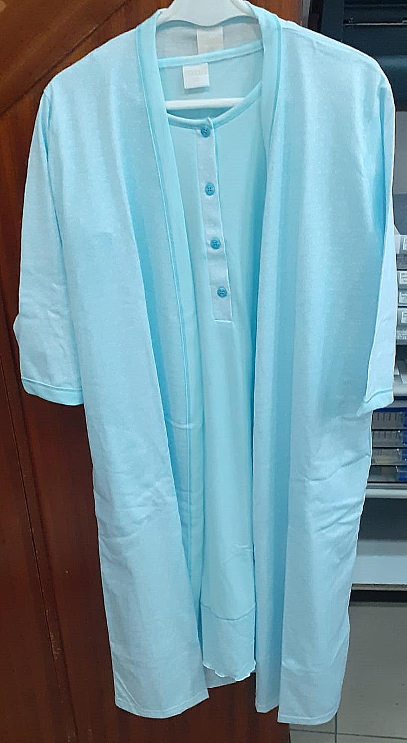 Conjunto Robe - Camisa de Noite M/Manga