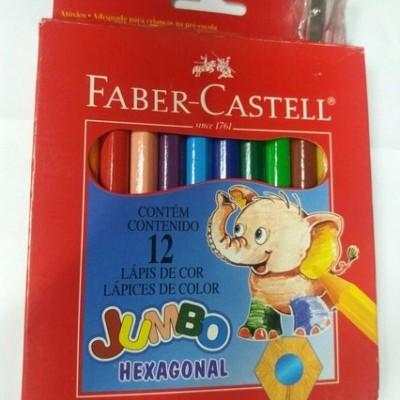 Lápis de cor Faber-Castell Jumbo Hexagonal