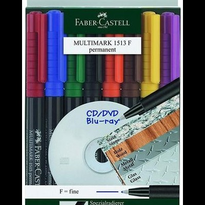 Pack 8 Marcadores Permanentes Faber-Castell