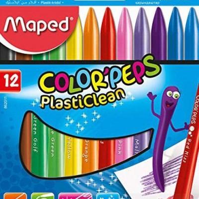 Lápis de cera Maped Plasticlean