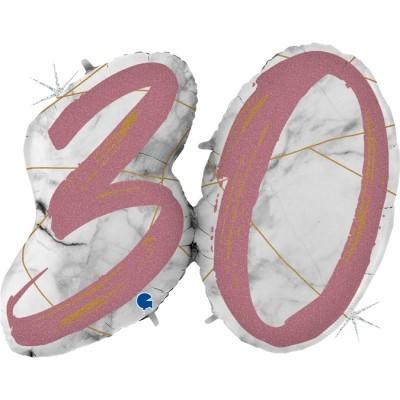 Balão Número 30 Rose Gold