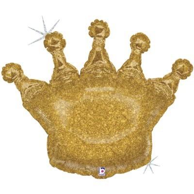 Balão Coroa Dourada Glitter