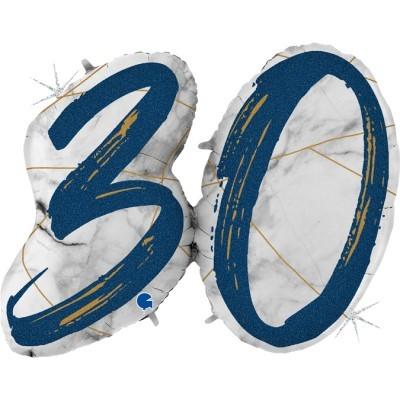 Balão Número 30 Azul