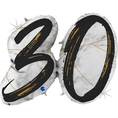 Balão Número 30 Preto