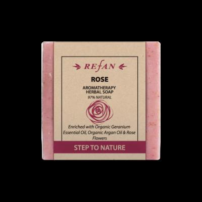 Sabonete com óleo argão e pétalas de  rosa 120gr