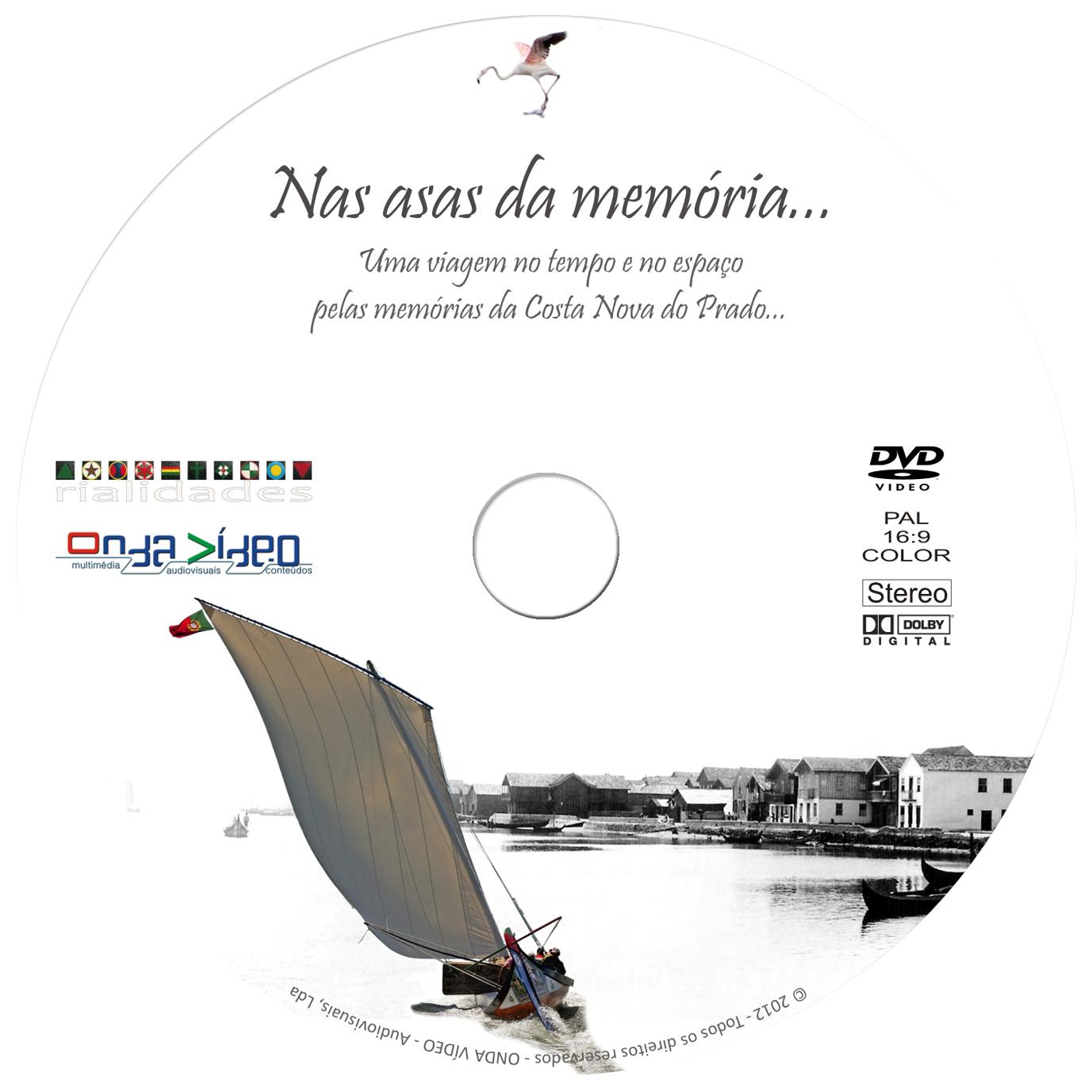 """DVD VÍDEO """"nas asas da memória"""""""