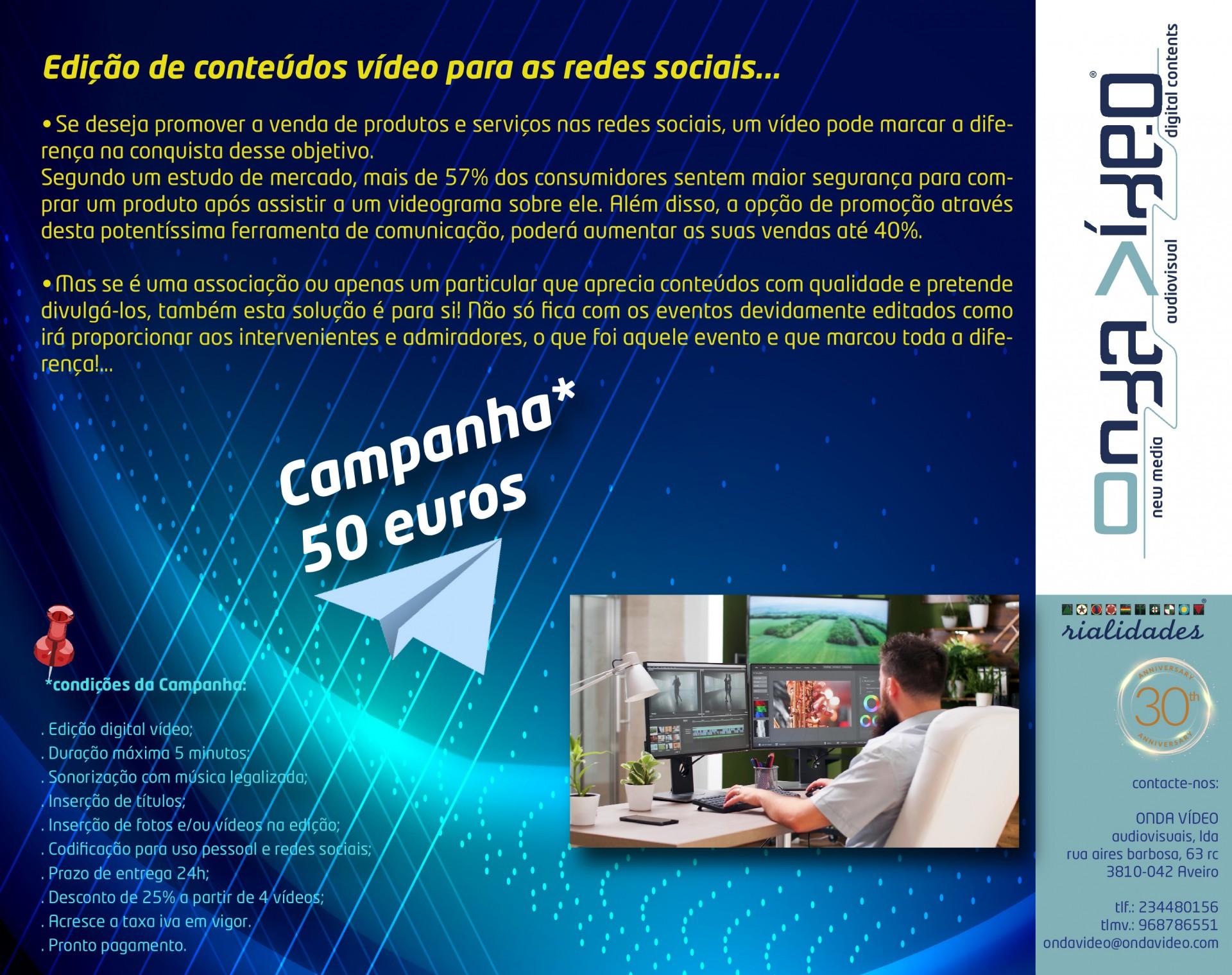 EDIÇÃO VÍDEO para Redes Sociais