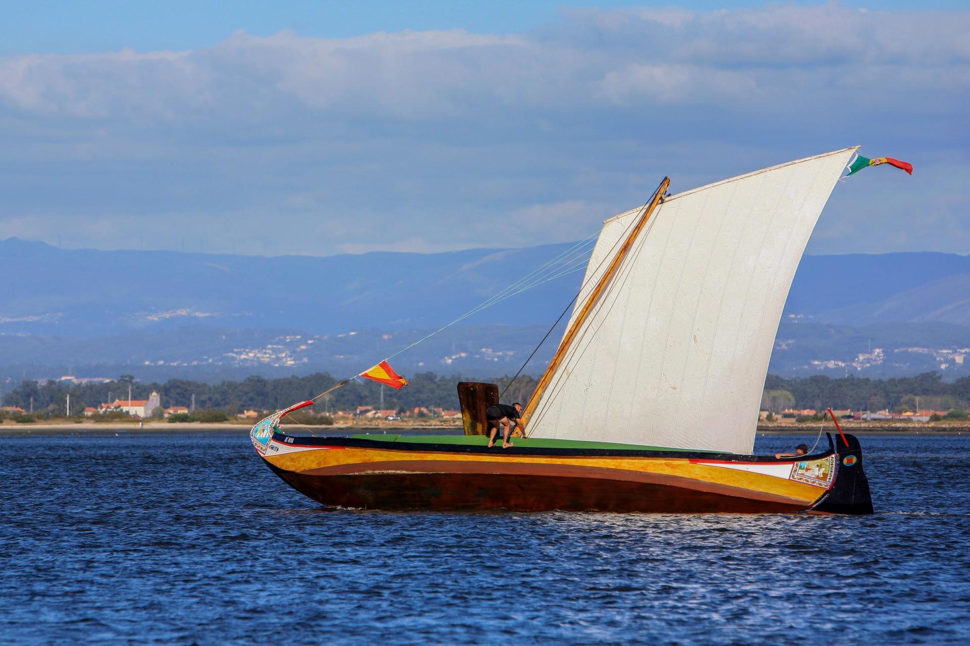 """Regata de barcos  tradicionais """"Moliceiros"""""""