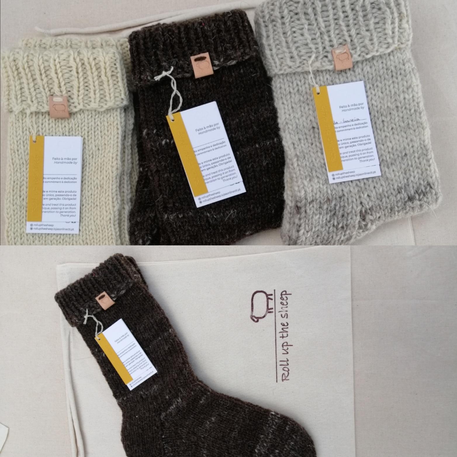 Meias de lã