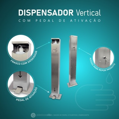Dispensador de Desinfectante com Pedal