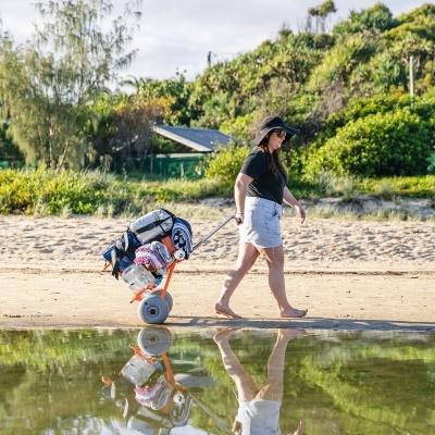 WheelEEZ® Carrinho de Praia Dobrável  Mini