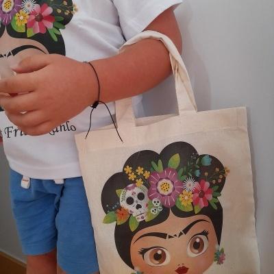 Saco de pano Frida Kahlo Kids