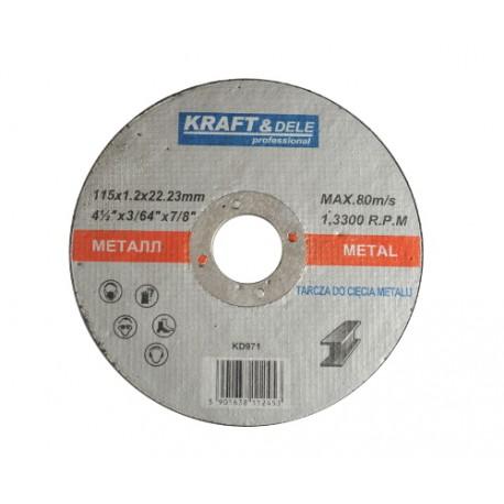 DISCO CORTE DE METAL 115x1.2x22.23 KD971