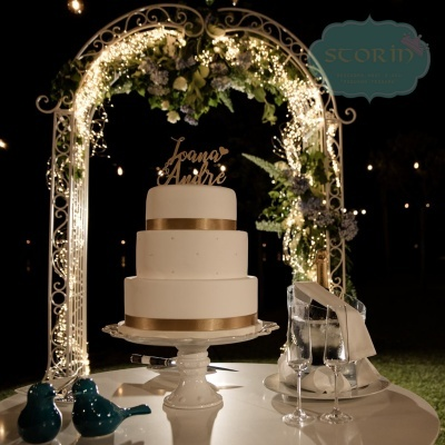 Topo de Bolo com Nome dos Noivos