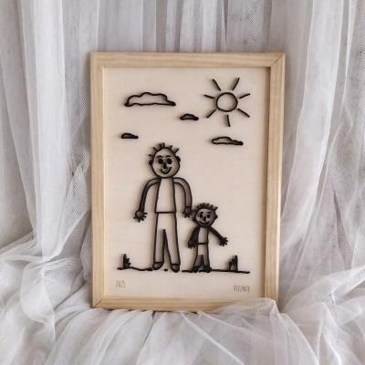 Quadro com Desenho Infantil Personalizado