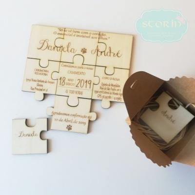 Convite de Casamento - Puzzle