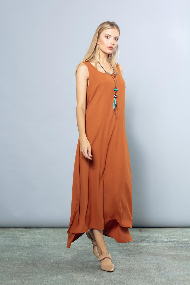 Vestido Liso - Nafta