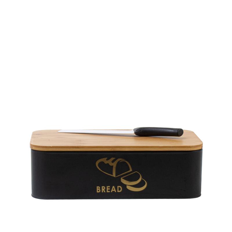 Caixa de pão com faca