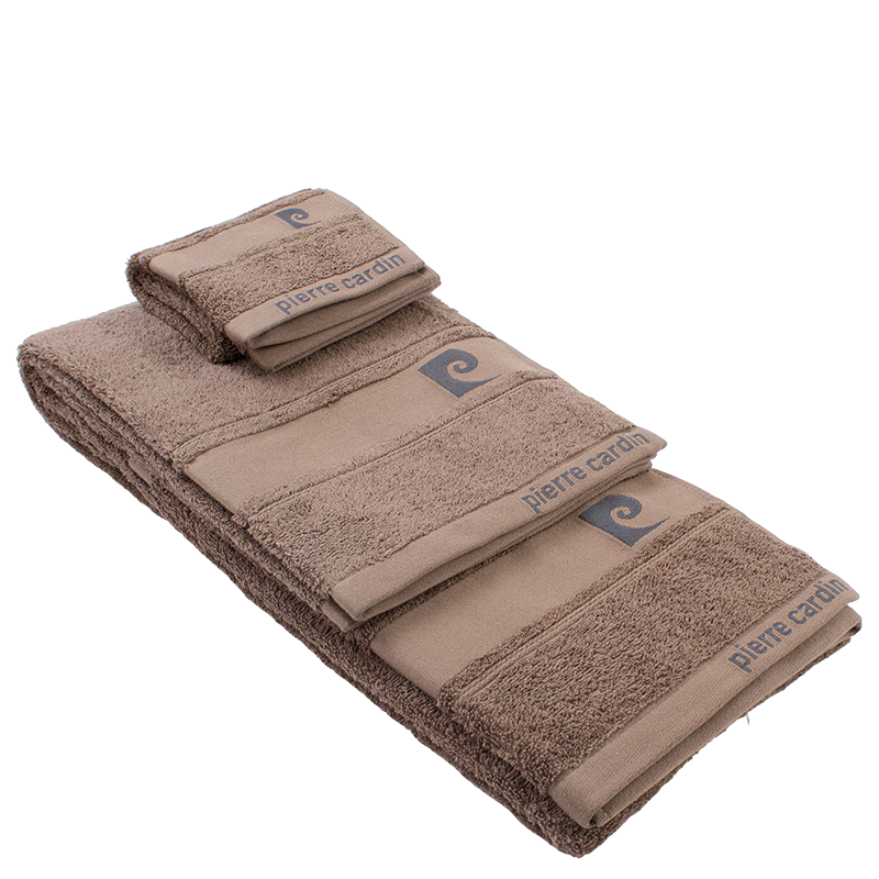 Conjunto de 3 toalhas PIERRE CARDIN cor: café