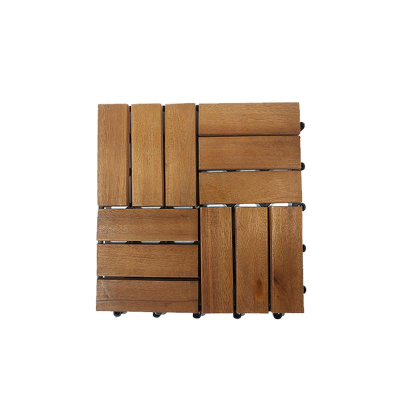 Pavimento de madeira acácia x9 peças