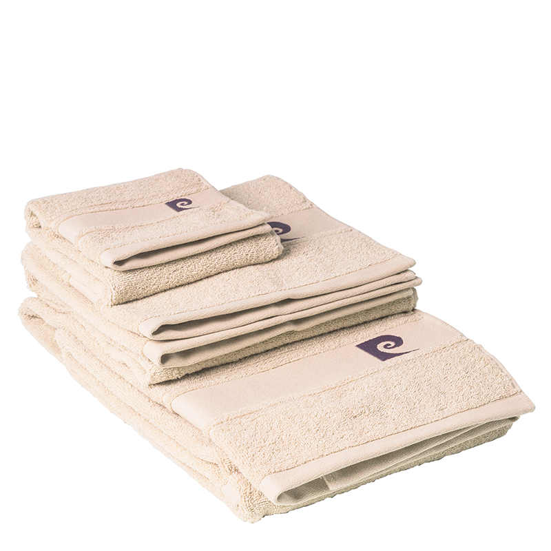 Conjunto de 3 toalhas Pierre Cardin cor: bege