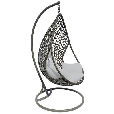 Cadeira baloiço almofada cinza