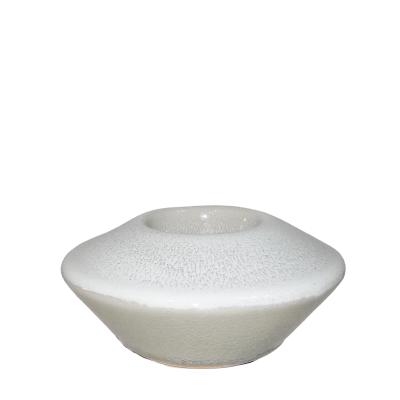 Portavelas de cerámica 14x7cm