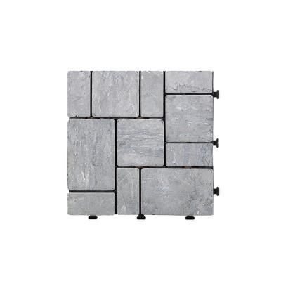 Pavimento de pedra travertino Cinza x4 peças