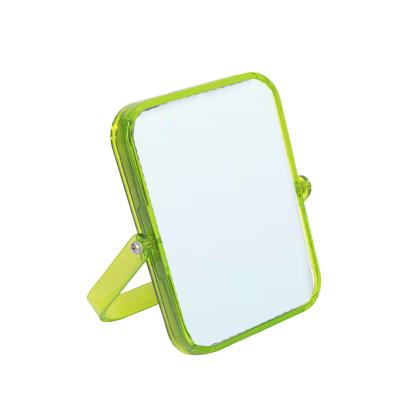 Espelho Retangular Verde Transparente