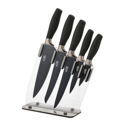 Cepo em acrílico c/ 5 facas