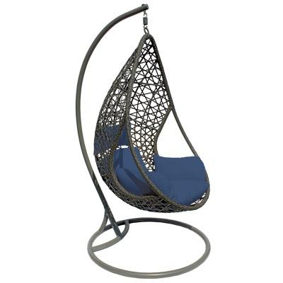 Cadeira baloiço almofada Azul