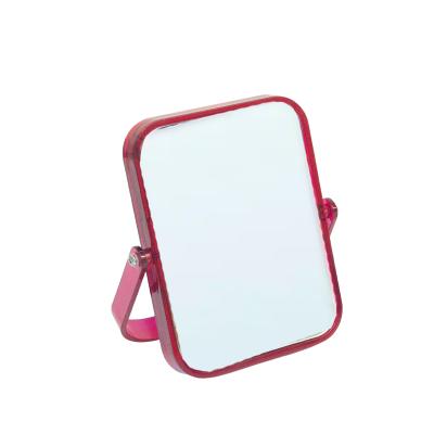Espelho Retangular Rosa Transparente