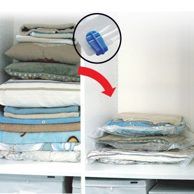 Conj. de 4 sacos de vácuo para roupa