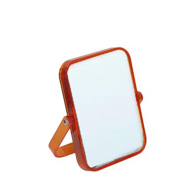 Espelho Retangular Laranja Transparente