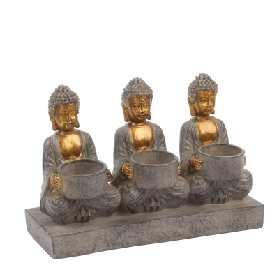 Porta Velas 3 Tealight Buda