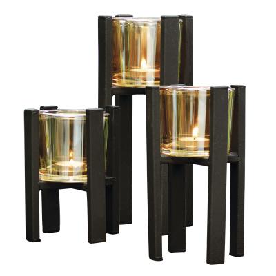 Conjunto 3 Porta Velas 10x10x15,5cm