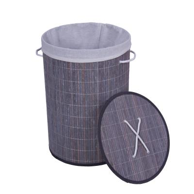 Cesto para roupa em bambu
