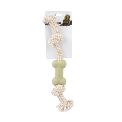 Brinquedo corda para animais com osso