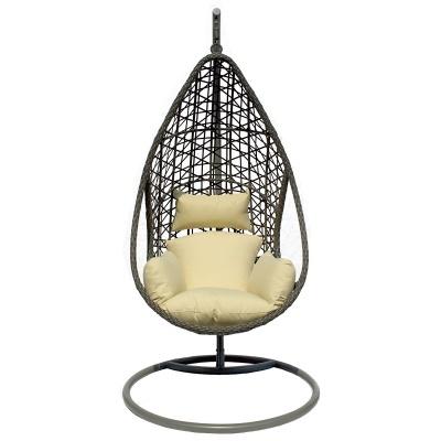 Cadeira baloiço almofada beje
