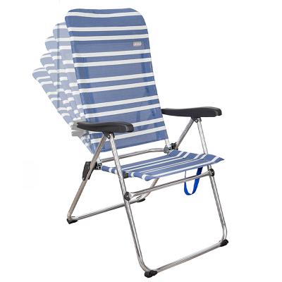 Cadeira dobrável 5 posições costa altas Azul Aktive