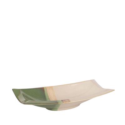 Prato Decorativo em Cerâmica 41x23cm