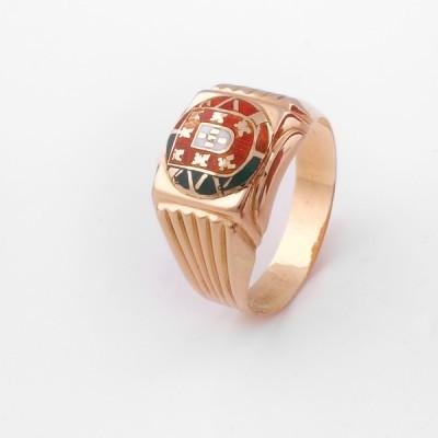 Anel Ouro com Escudo de Portugal