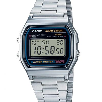 Relógio Cásio Prateado/ Preto/ Azul